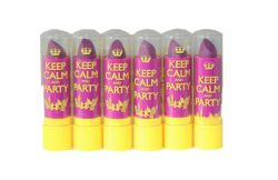 6 x Rimmel Keep Calm and Party Lip Balm | RRP £18 | Violet Blush | Job Lot